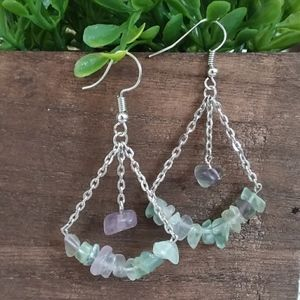 5 ⭐️ Fluorite Hook Earrings